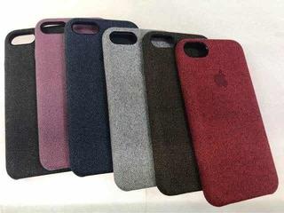 Capa Textura Tecido P/ iPhone 6 6p 7 7p 8 8p X Xs Xr Xs Max