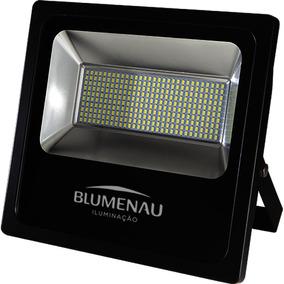 Refletor Led Alumínio 150w Slim Blumenau Preto Fb