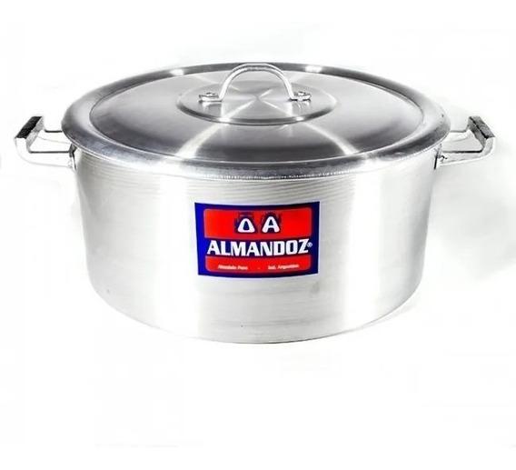 Cacerola Gastronómica N°36 18 Lts Aluminio Puro Almandoz