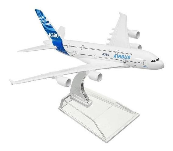 Airbus A380 Avião Miniatura Base Acrilico