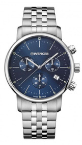 Relógio Wenger Urban Classic Chrono Azul 01.1743.105 C/ N F