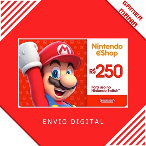 Nintendo R$250 Gift Card Digital - Br