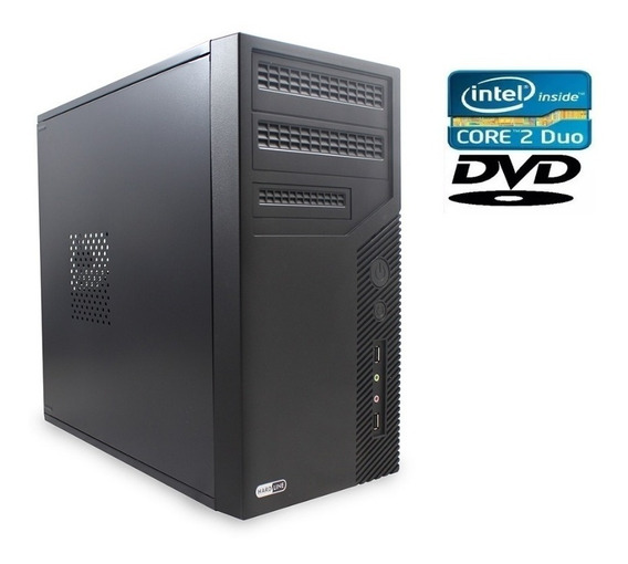 Pc Computador Cpu Intel Core 2 Duo + Hd 160gb + 4 Gb + Grav