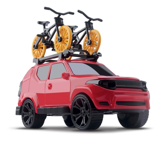 Brinquedo Caminhonete Pick Up Com Bicicleta - Orange Toys