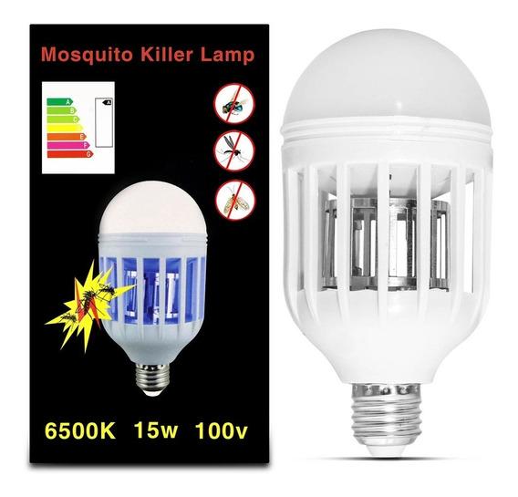 Lâmpada Led Mata Mosquito Pernilongo Moscas E27 15w 110v Bf