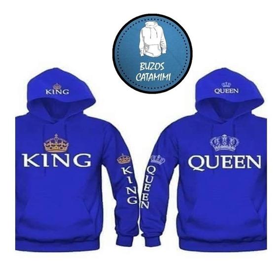 Polerones Para Parejas King Y Queen Azules