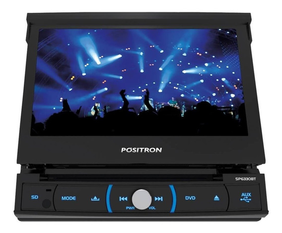 Dvd Player Positron Sp6330bt 1 Din 7 Retrátil Bluetooth