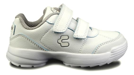 Zapato Escolar Charly Para Niña 1069528 Blanco [chy2613]