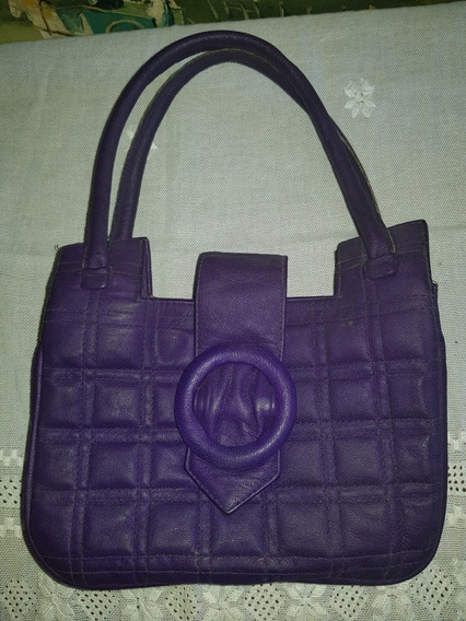Cartera Color Violeta Vintage Retro