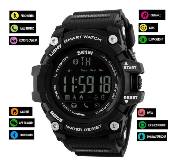 Relógio Smart Skmei Militar Digital G-shock Barato Dj0079
