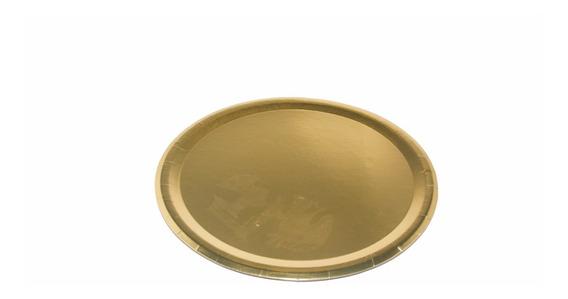 Plato De Cartón Dorado Para Tortas 24 Cm X 50 Unidades