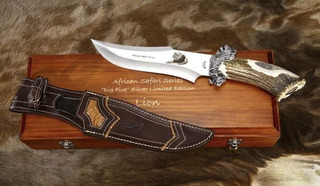 Cuchillo De Lujo Big Five Muela Lion