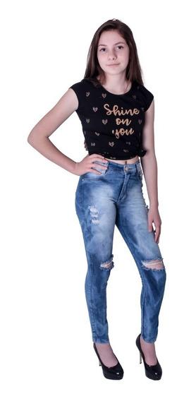 Calça Jeans Feminino Bbe 2093