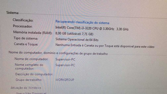 Pc Placa Mae Asus I3 , 8gb De Memoria E 1t De Hd