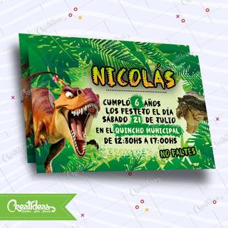 Dinosaurios Tarjetas Invitaciones Infantiles Personalizadas