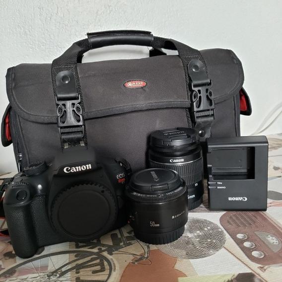 Canon T5 Com 18-55mm + 50mm 1.8