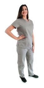 Pijama Cirúrgico/ Scrubs- Conjunto Feminino Liso