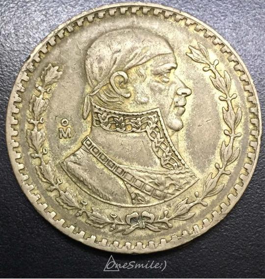 Onesmile:) Moneda Mexicana De Un Peso 1958 Plata Baja