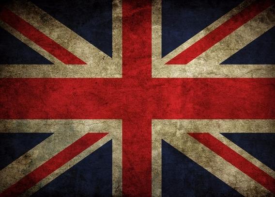 Poster Bandeira Inglaterra 60cmx84cm Rock Para Decorar Sala