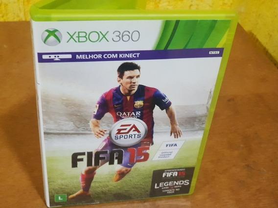 Fifa 15 Usado Encartes Original Xbox 360 Midia Fisica