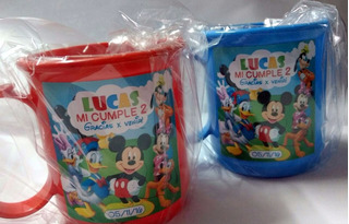 Tazas Plásticas Personalizadas Souvenirs Pack X 30 Unidades