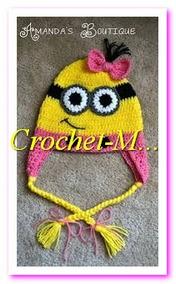 061dcd0d3 Gorros Tejidos A Crochet Personaje Minion Niñas