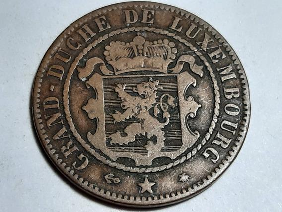 Moneda Luxemburgo 10 Céntimos, 1865 Bronce Km# 23 Lote 4768