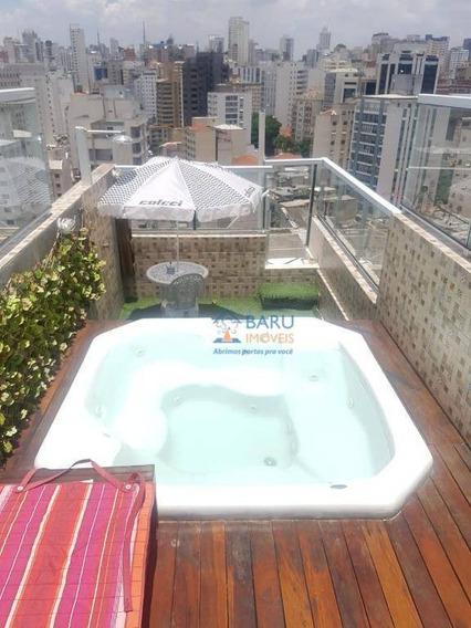 Cobertura Com 2 Dormitórios À Venda, 170 M² Por R$ 900.000,00 - Santa Cecília - São Paulo/sp - Co2233