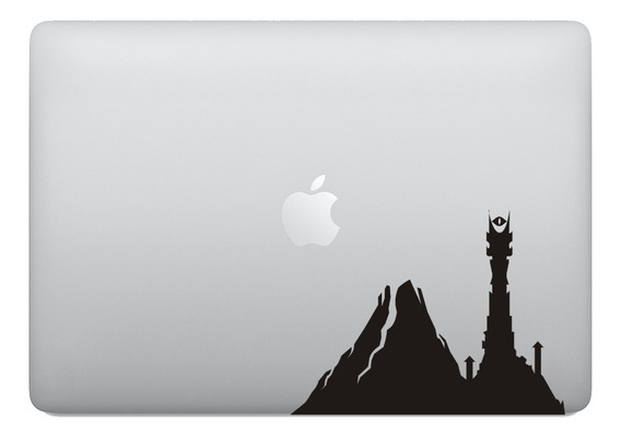 Adesivo Para Notebook Senhor Dos Anéis Torre Mordor Macbook