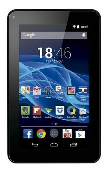 Tablet Multilaser M7s Quad Core 8gb Android 4.4 Preto Nb184