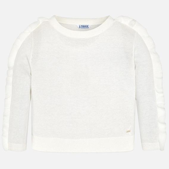 Suéter Blanco Mayoral Niña Est. 6304, 8 Años