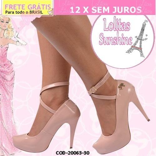 Sapato Scarpin-feminino-coleção Barbie-verniz- Salto Alto