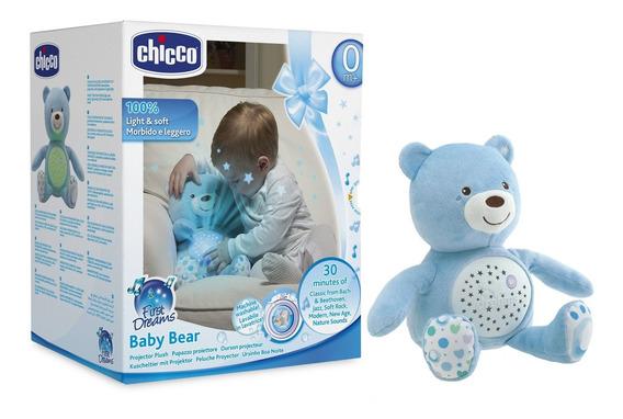 Pelucia Projetor Ursinho Baby Bear First Dreams Azul Chicco