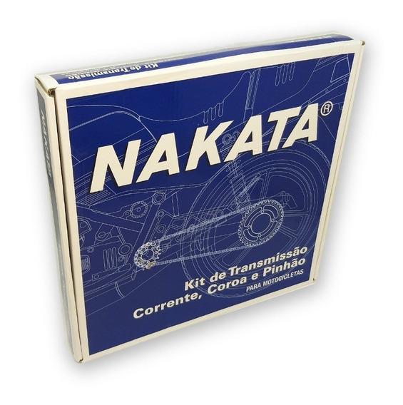 Kit Relação Hornet 2008 Até 2014 C/ Retentor Aço 1045 Nakata