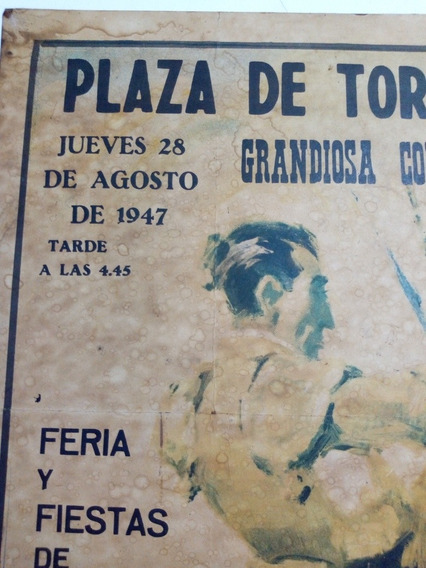 Afiche,posters Antiguo Torero , Cartel,cuadro,plaza De Toros