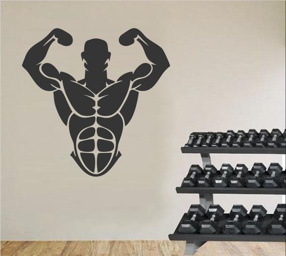 Adesivo De Parede Decorativo Academia Fitness Musculação