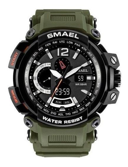 Relógio Masculino Smael Modelo 1702 Army Green Frete Grátis