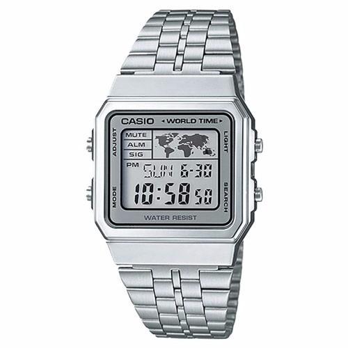 Relógio Casio Unissex Vintage A500wa 7df Digital Prata