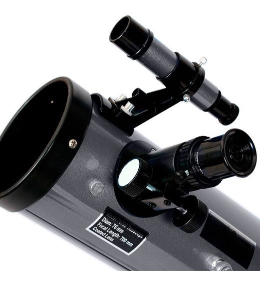 Telescópio Astronômico Pegasus 76 Padrão 1,25 + Tripé Az2 - Skylife Marca Especialista Em Produtos Astronômicos