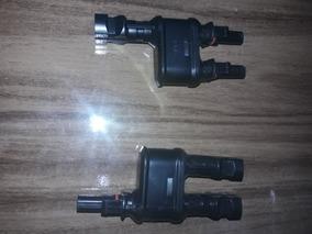 1 Par De Conector Mc4 Tipo 2t Para Ligações Em Paralelo