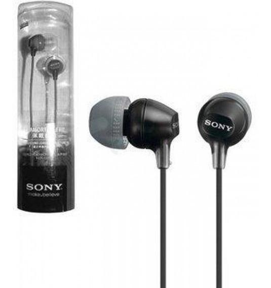 Fone De Ouvido Intra-auricular Preto Mdr-ex15lp/b - Sony