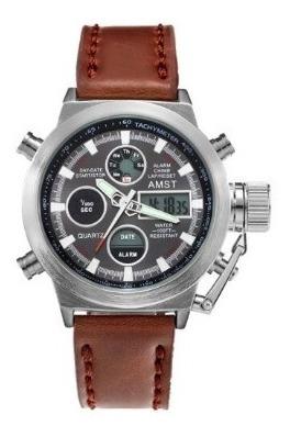 Relógio Masculino Pulso Original Amst 3003 Super Luxo Top