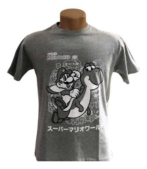 Camiseta Super Mario World - Mario Bros - Game - Unissex