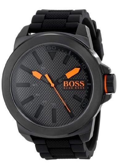 Reloj De Acero Inoxidable Negro De Nueva York De Hugo Boss O