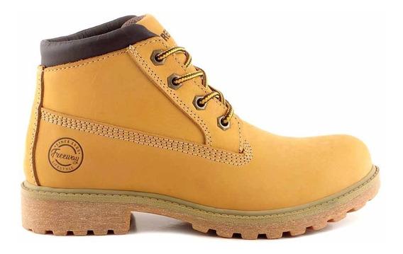 Borcegos Mujer Botas Cuero Freeway Zapato Goma - Mcbo24882
