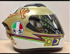 Capacete K5 Valentino Rossi Com 2 Viseiras Tamanho 58 /60