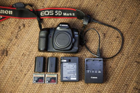 Canon 5d Mark Ii + 2 Baterias + 2 Cartões De Memória 32gb