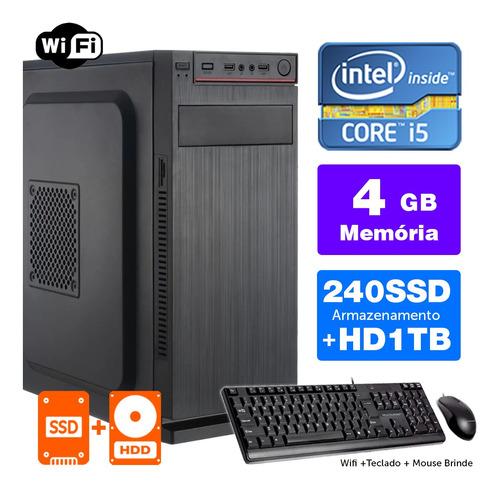 Desktop Bs Intel Core I5 2ªger 4gb Ssd240+1tb