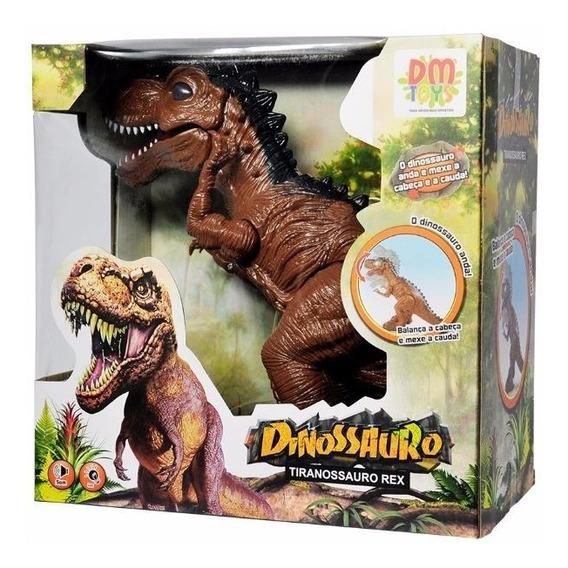 Dinossauro Tiranossauro T Rex Luz Move Som Pronta Entrega