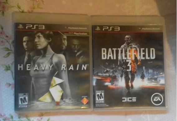 Heavy Rain + Battlefield 3 Para Playstation 3 Originais